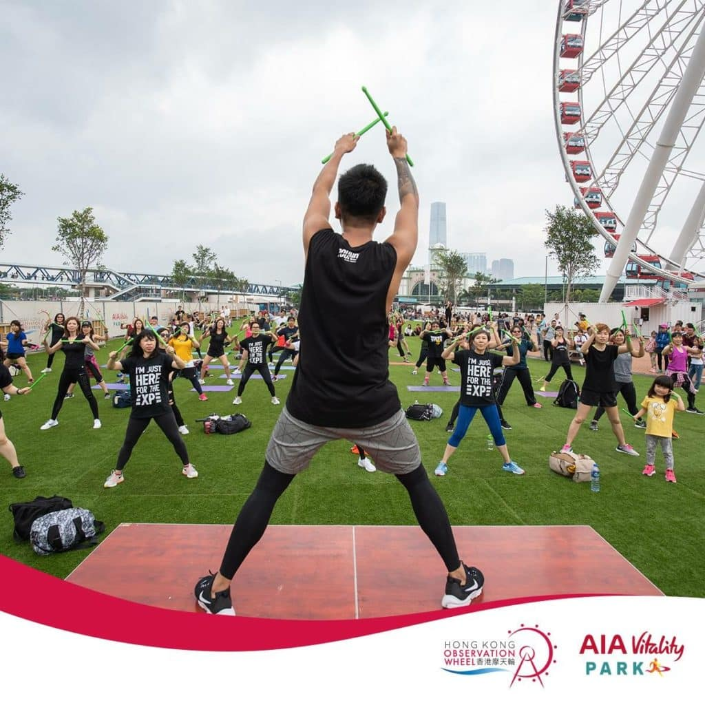 AIA除了瑜珈班更有很多健康活動。