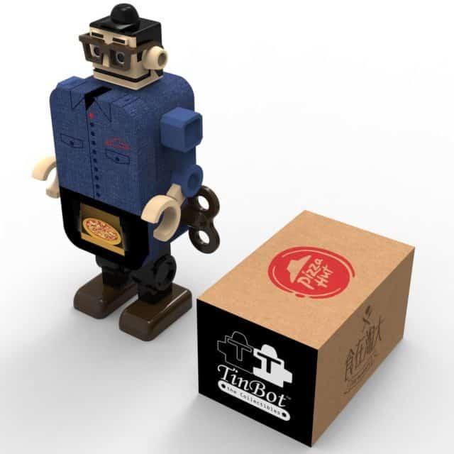 TinBot™ 與 Pizza Hut 合作推出別注版鐵寶奇盒。