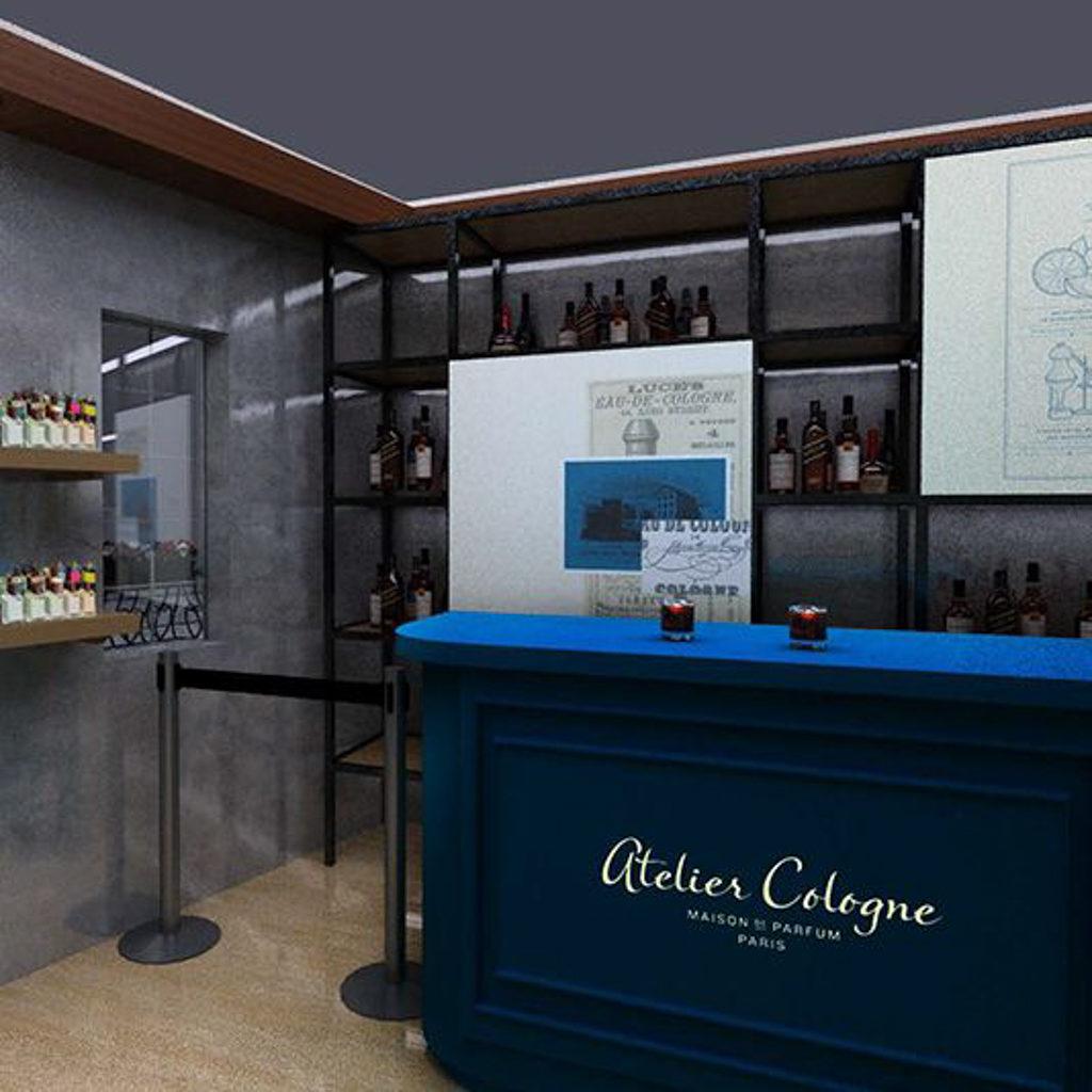 ifc Mall:Atelier Cologne 香水體驗展 Atelier Cologne 香水體驗展設置多個打卡影相位。