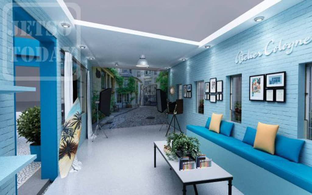 ifc Mall:Atelier Cologne 香水體驗展 中環 ifc 商場中庭築起一條浪漫巴黎小街。