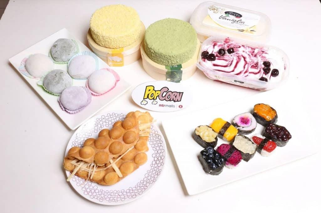 PopCorn:「Pop Foodie 嚐味巡禮」市集 格魯吉亞特濃煙薰芝士鷄蛋仔、「水果壽司」系列、糥米糍、意式雪糕、芝士蛋糕