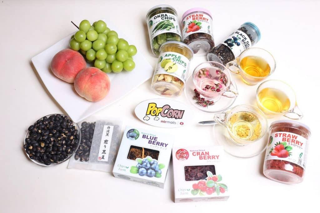 PopCorn:「Pop Foodie 嚐味巡禮」市集 風乾水果脆片、丹波黑大豆、花茶、日韓水果