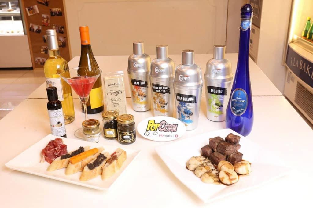 PopCorn:「Pop Foodie 嚐味巡禮」市集 葡萄酒、德國冰酒、即開雞尾酒、帶子及一口牛、Tapas 黑松露 cracker 和 Tapas 西班牙火腿