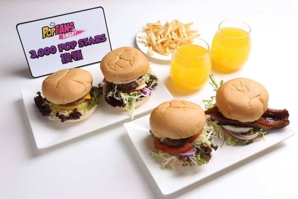 PopCorn:「Pop Foodie 嚐味巡禮」市集 黑松露牛肉漢堡、蘑菇黑松露牛肉漢堡、夏威夷豬柳漢堡套餐、日式鰻魚漢堡套餐