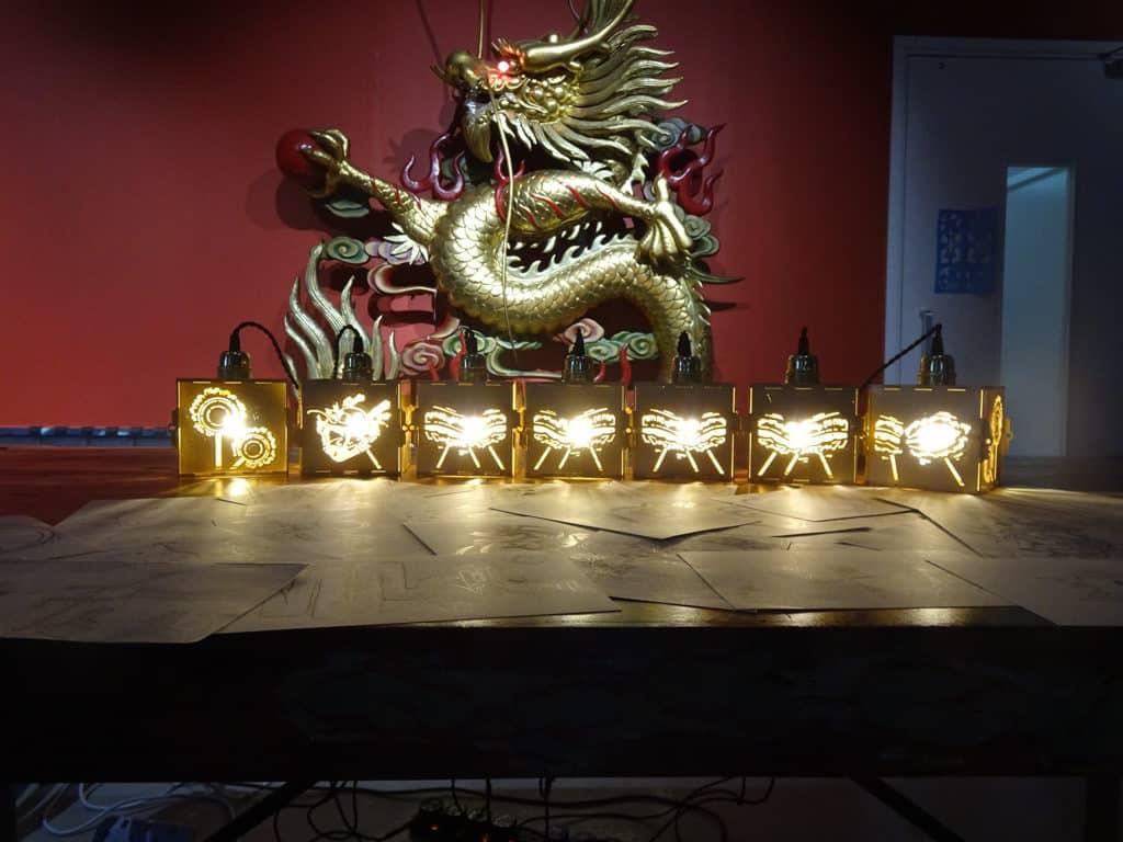 大坑:「光影火龍夜」展覽 展品以光影結合大坑舞火龍文化。