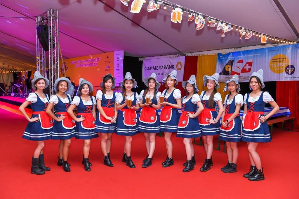 海港城:馬哥孛羅德國啤酒節2018 場內的啤酒女郎都穿上德國傳統服飾。