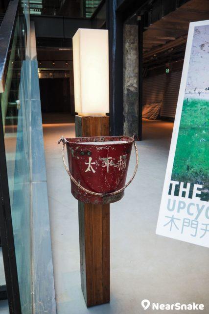 昔日南豐紗廠保留的太平桶,現已化身成為藝術裝飾。