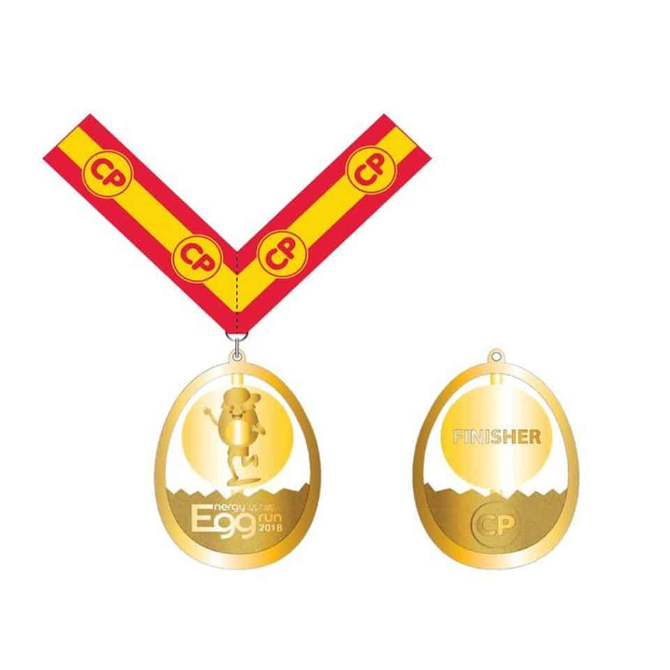 CP活力打氣包內:CP雞蛋活力跑完成獎牌。