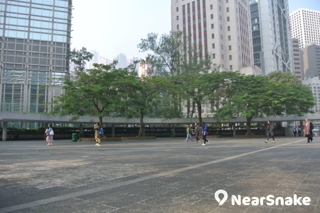 遮打花園中央廣場範圍非常寬廣,難怪從前是示威集會的熱門選址。
