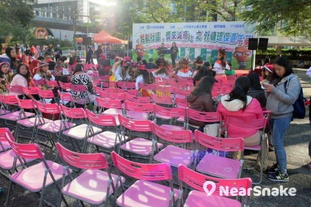 現今的遮打花園中央廣場已成為文娛康樂舉活動的舉行場地。