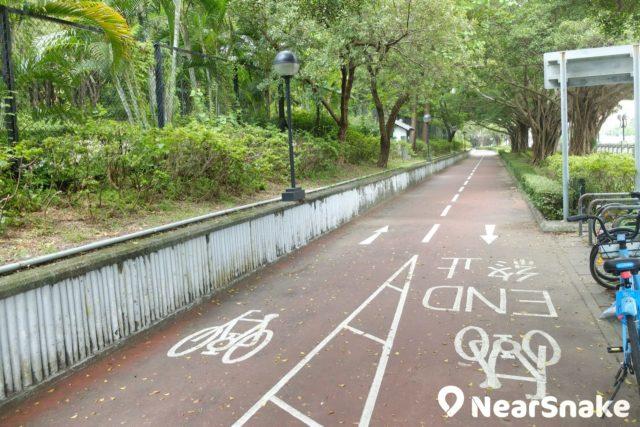 沙田城門河畔的單車徑。