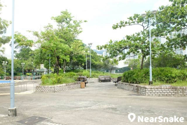 城門河畔建有多個海濱花園,圖中是城門河第三海濱花園。