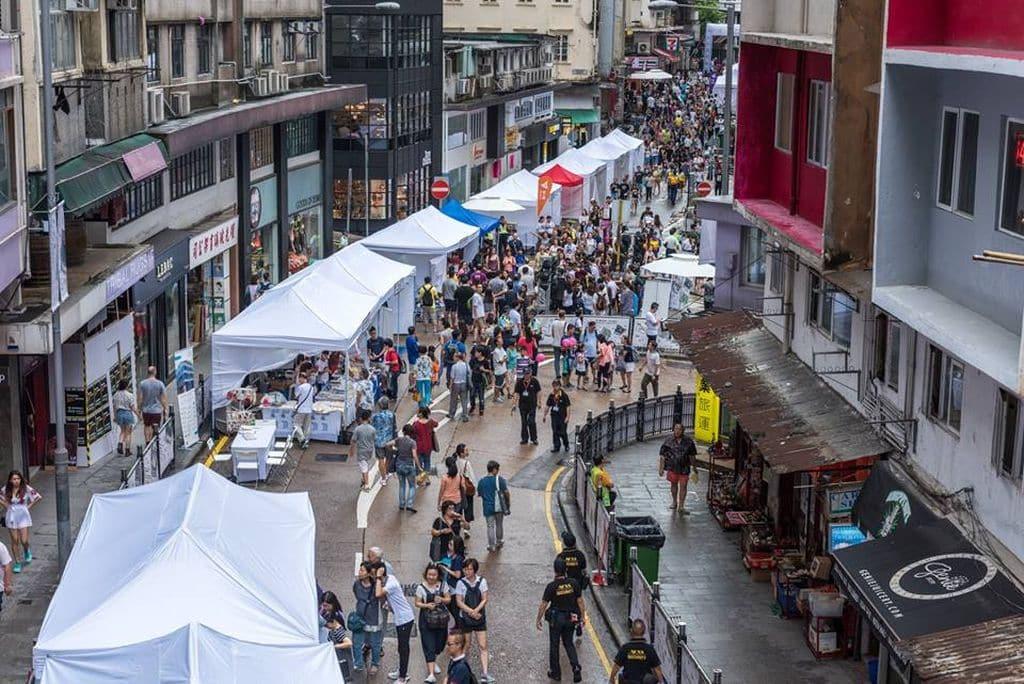 2017 年『文物時尚•荷李活道』街頭嘉年華會得到市民熱烈參與和認同。
