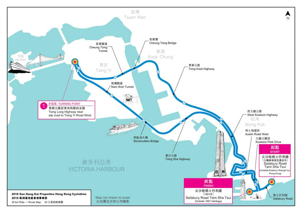 香港單車節2018/新鴻基單車節2018 30 公里組路線