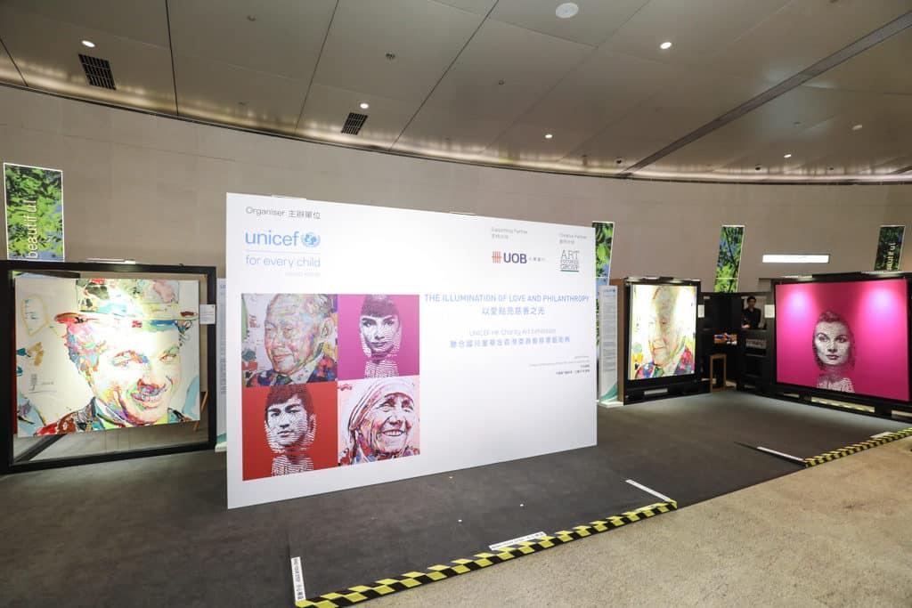 ifc mall:UNICEF HK「以愛點亮慈善之光」慈善藝術展