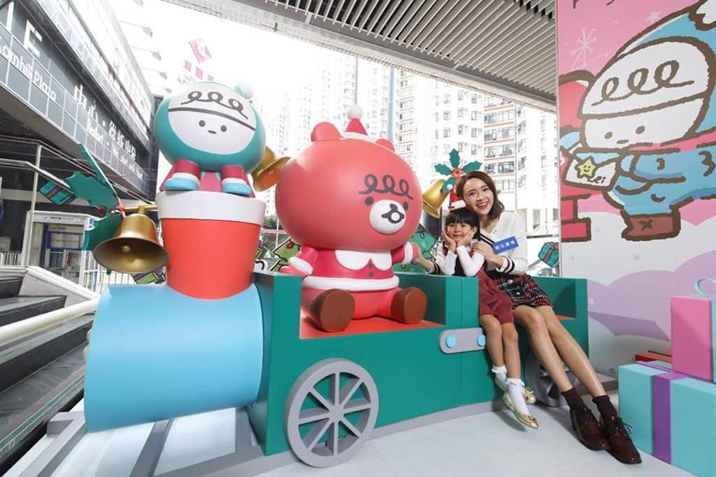康怡廣場:微笑精靈「喂喂」聖誕傳播快樂因子