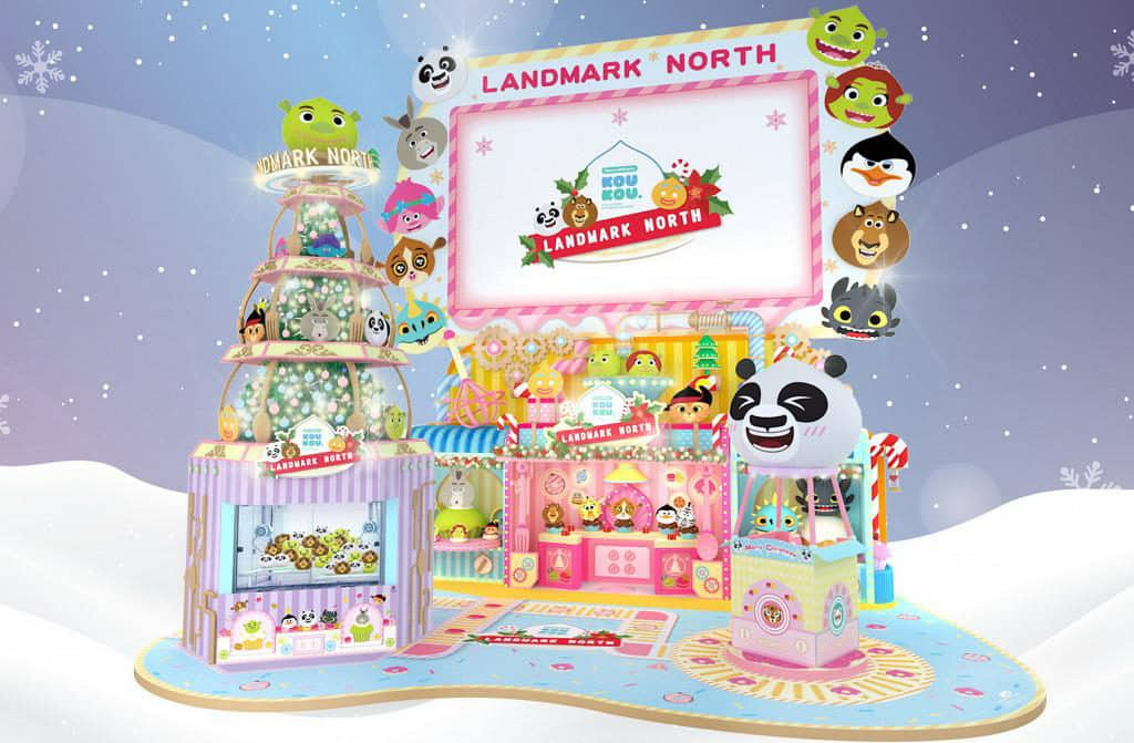 上水廣場:DreamWorks KOUKOU聖誕甜品夢工場 上水廣場以少女系甜品夢工場為設計主題。
