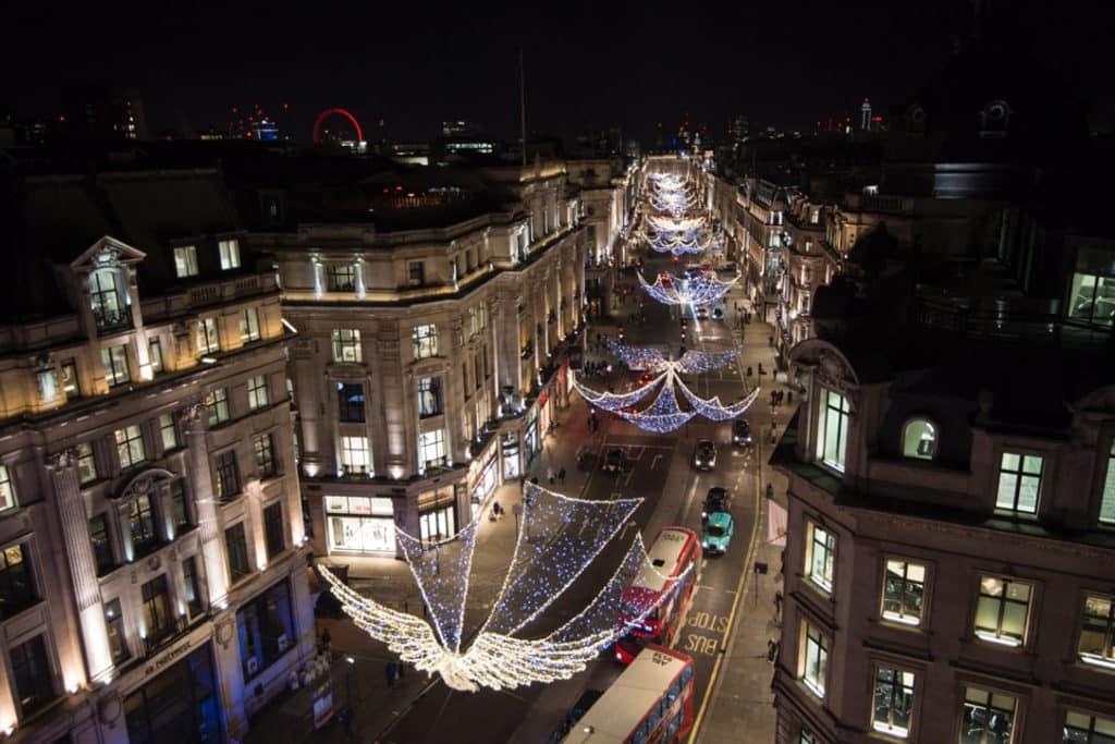 利東街:The Spirit of Christmas聖誕燈飾 英國倫敦購物大道攝政街的聖誕燈飾世界聞名。