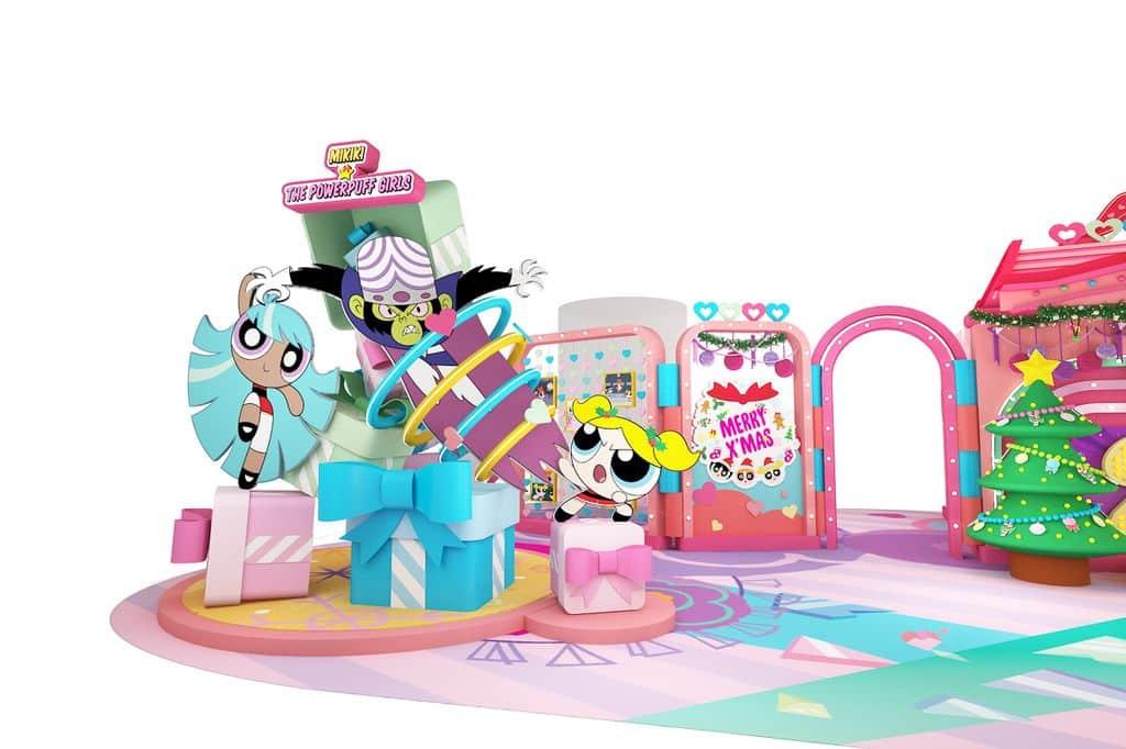 Power Up 聖誕小屋:泡泡與碧絲vs壞蛋Mojo Jojo 。