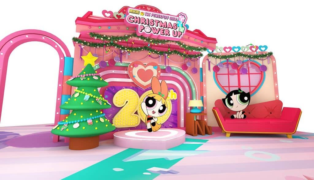 Power Up 聖誕小屋:花花與毛毛20周年聖誕Power Up客廳。