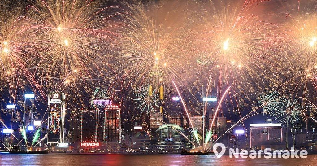 香港除夕倒數煙花匯演 2019 FB圖片
