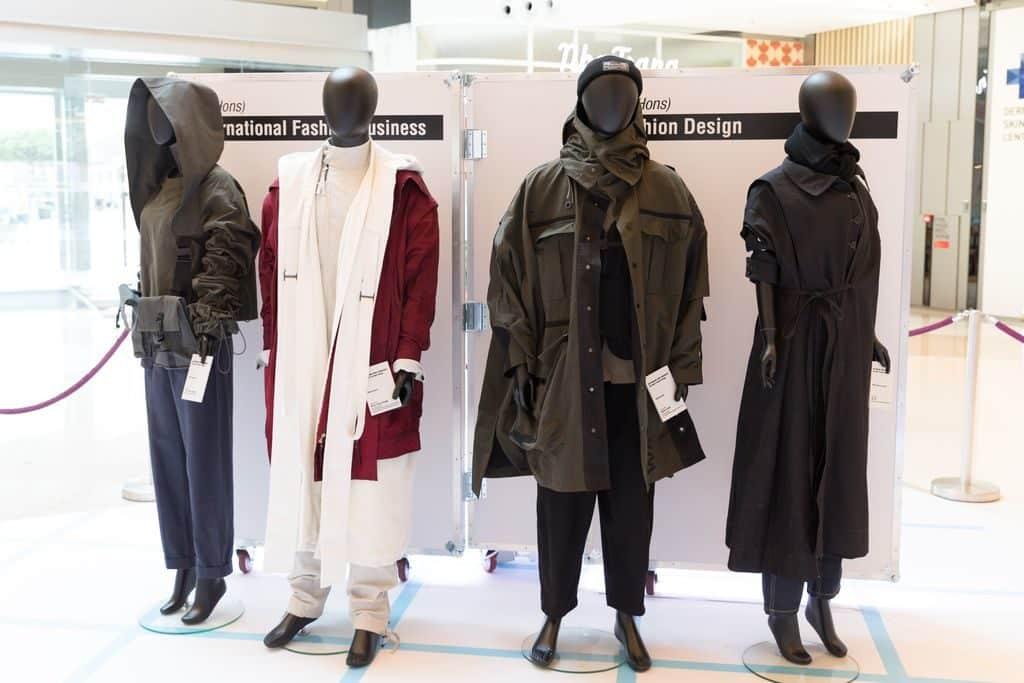 HKDI 時尚創設為未來 2018 展覽其中重要部分展出由一班高級文憑和英國諾丁漢特倫特學士學位的畢業同學設計出的「時尚未來」商業設計及提案。