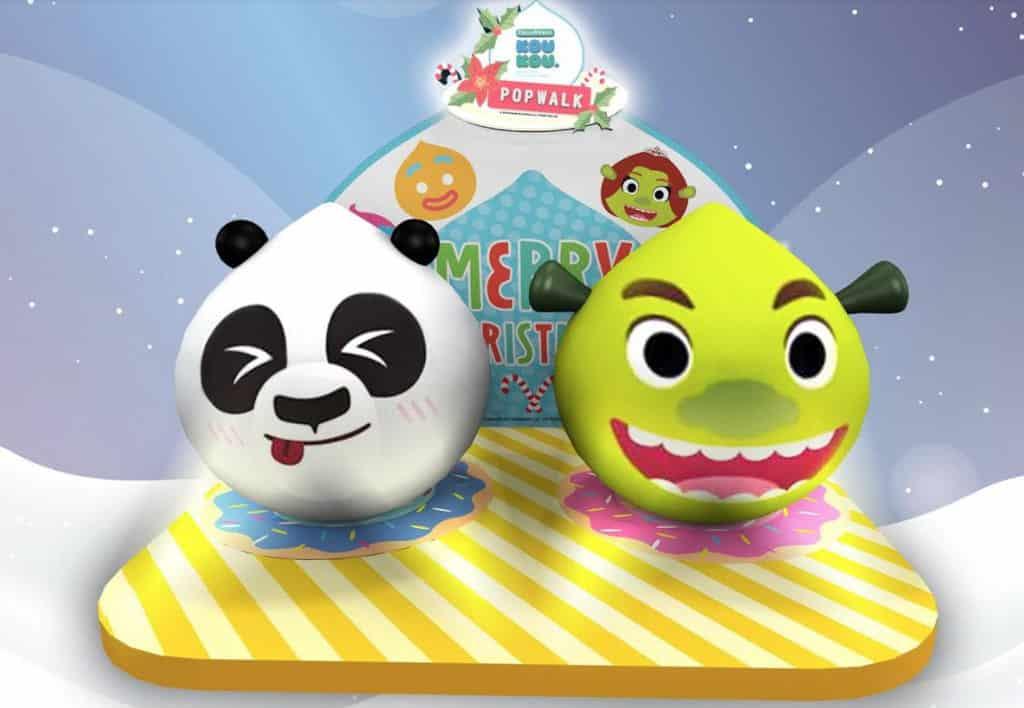 PopWalk天晉滙:聖誕甜品夢工場 1.5米高巨型毛毛版DREAMWORKS KOUKOU史力加及阿寶將登場。