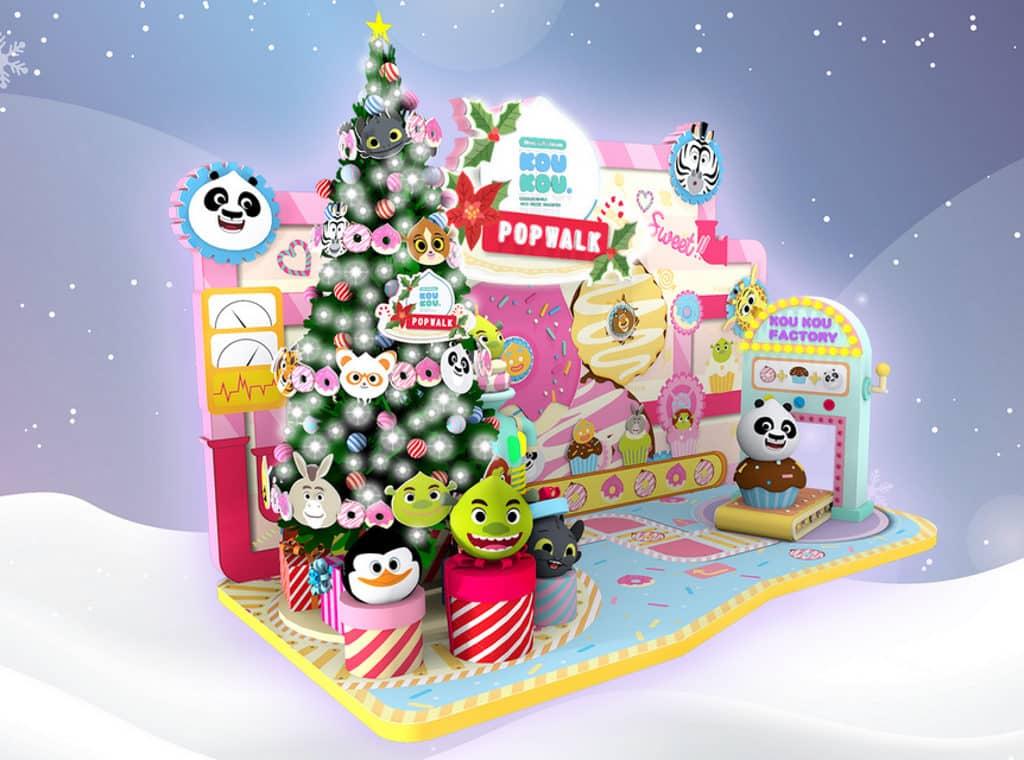 PopWalk天晉滙:聖誕甜品夢工場 PopWalk天晉滙將設置 7 米高主題聖誕樹、巨型公仔夾夾機佈置。