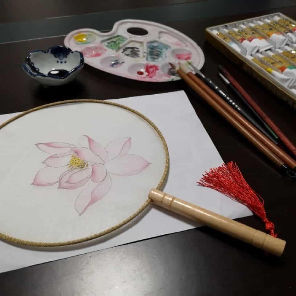 手繪宮扇工作坊。