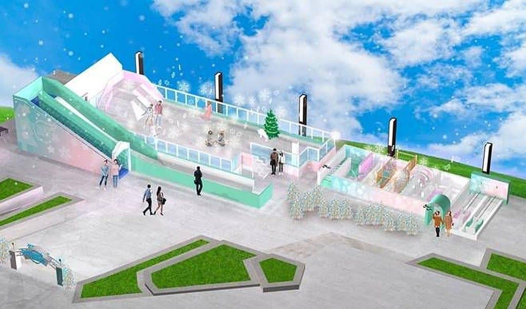 形點冰雪世界內的冰雪滑梯長達 16 米,可讓你享受從高處極速滑下的快感。