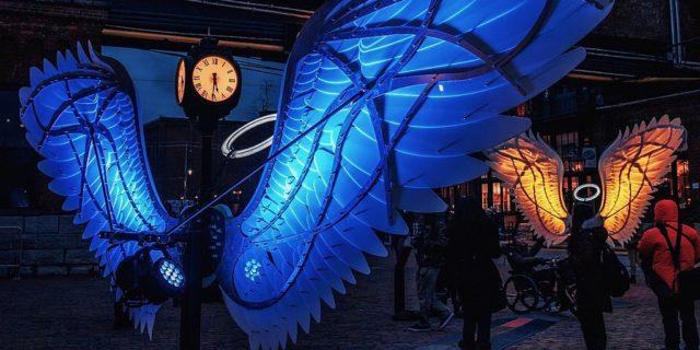 國際燈光藝術展以色列展品:Angels of Freedom(OGE CreativeGroup)