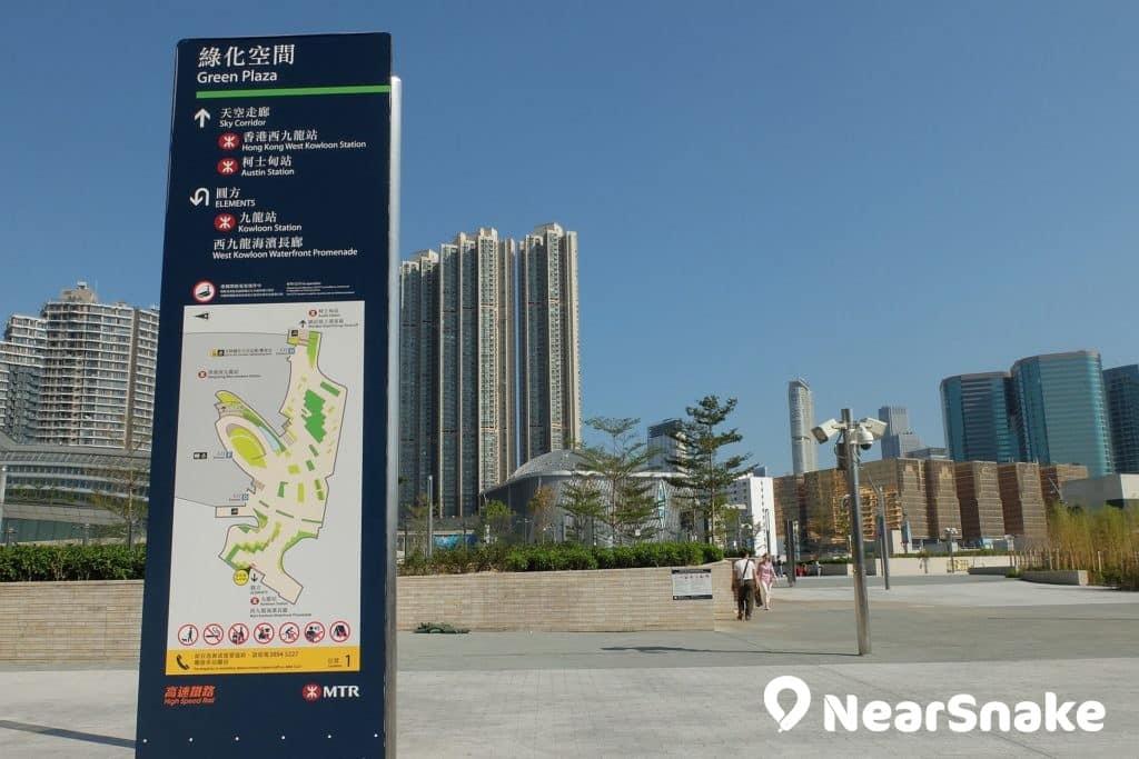 西九站內設有訪客中心,介紹香港高鐵,但卻不常開放。