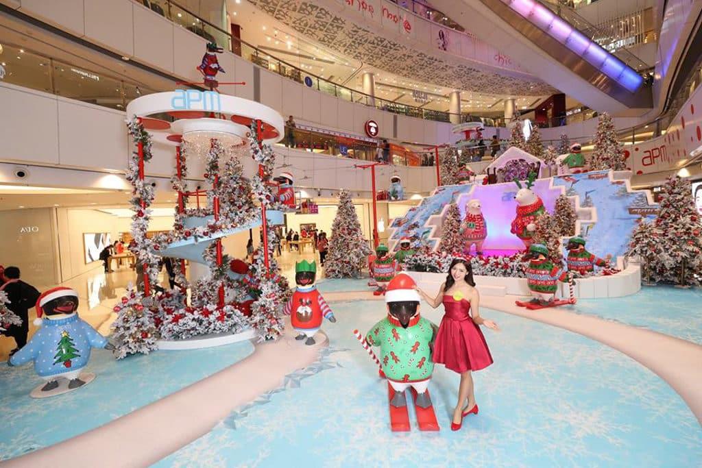apm:聖誕極地雪國の旅 聲控極光聖誕樹