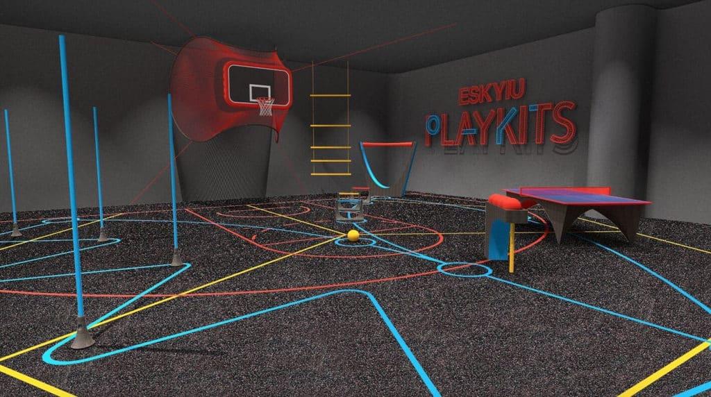 太古坊:ESKYIU PLAYKITS多變互動展覽 展覽由 ESKYIU 特製的複合組件砌成。