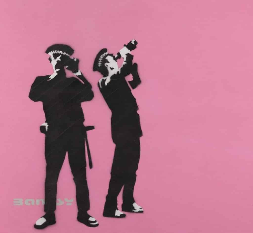 Banksy: Who's Laughing Now香港展售會 《Avon And Somerset Constabulary 》(Pink)