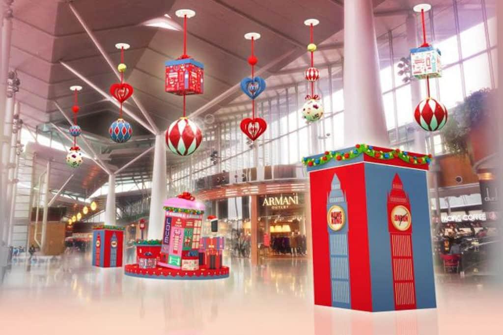 東薈城名店倉:Cath Kidston 滿屋英倫聖誕風 東薈城名店倉場內將佈滿以現代時尚風展現的英倫特色建築物。