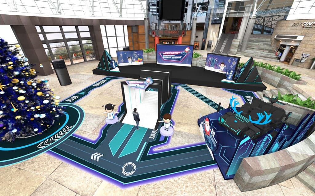 數碼港商場:「聖誕特工學園」虛擬世界任務大挑戰 數碼港商場今個聖誕將中庭打造成科幻網絡世界。
