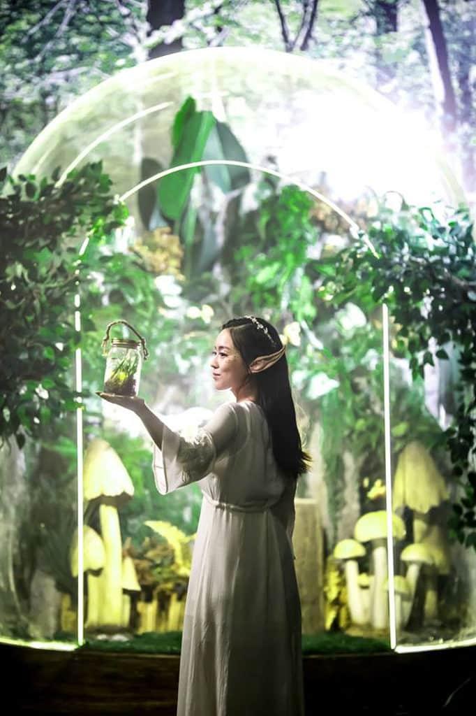 D2 Place:螢の森The Forest Light 賞螢森林 來到賞螢森林,可走進盛載奇幻力量的玻璃瓶內。