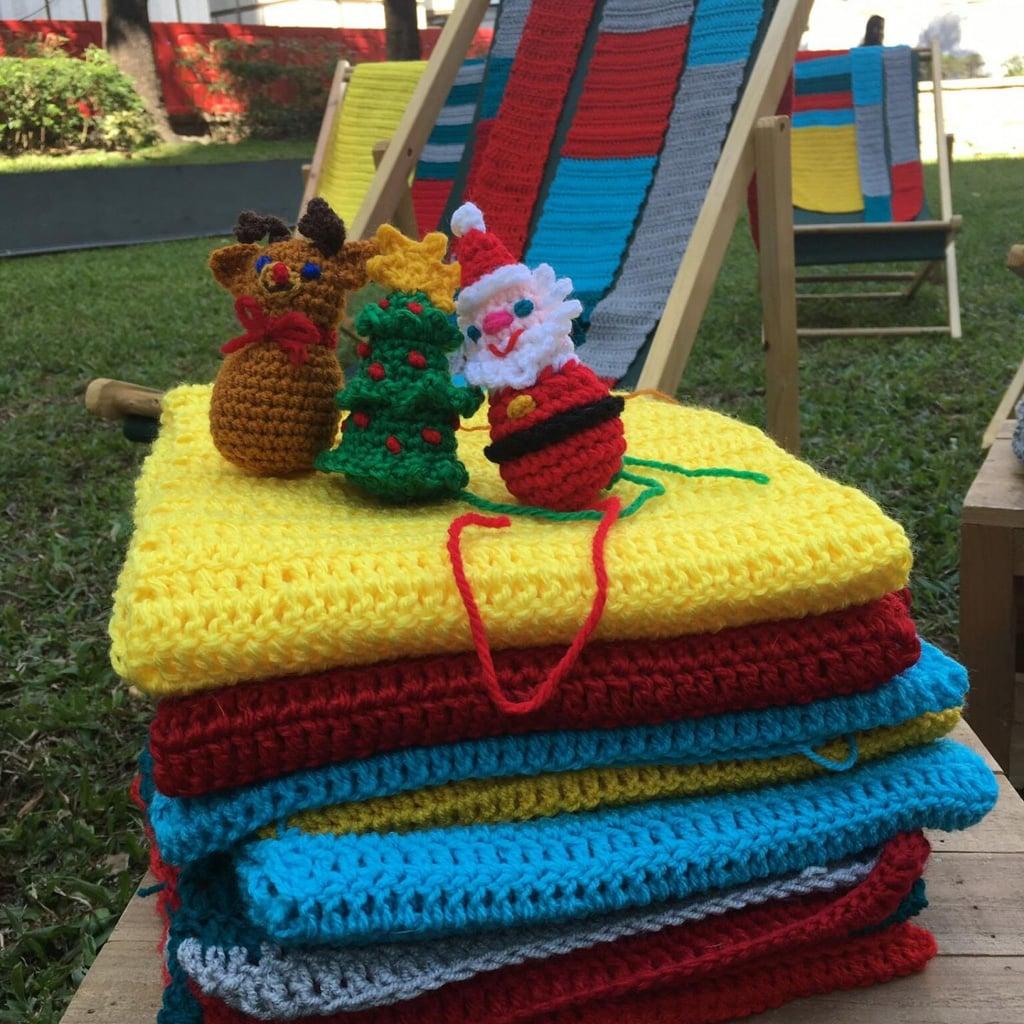 Fashion Walk活動:La Belle Époque針織手作聖誕裝飾 聖誕裝飾半年前已開始著手籌備並製作。
