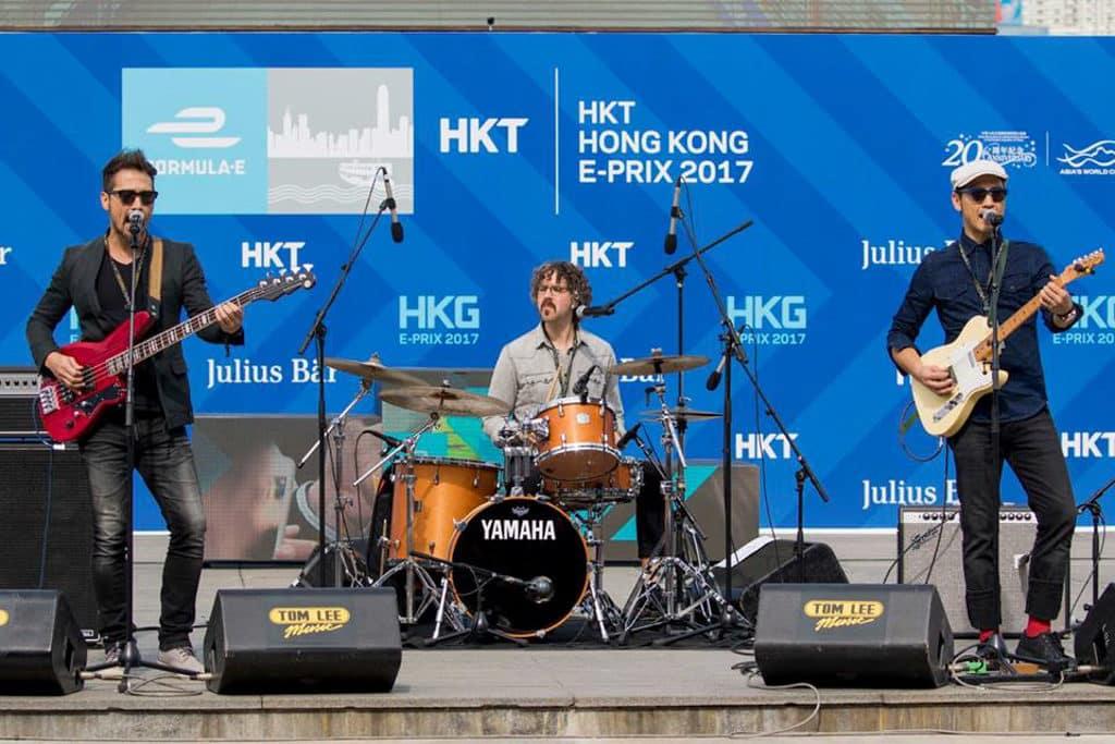 Formula E Hong Kong 2019|電動方程式賽車2019 E-Village 內有樂隊現場表演。