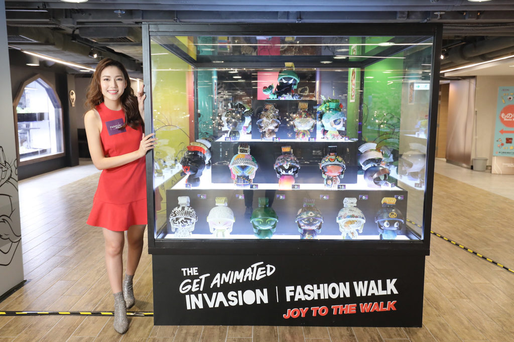 Get Animated | Fashion Walk – Joy to the Walk 活動展出名人藝術家創作的火星人 MARVIN 藝術品。