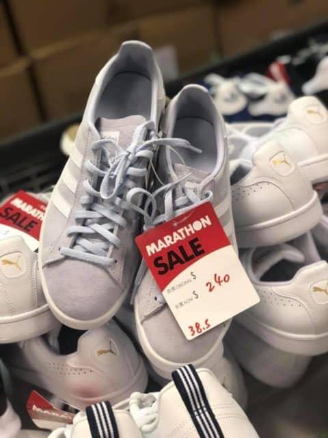 馬拉松聖誕開倉推介貨品:adidas 灰色波鞋 $240 港元