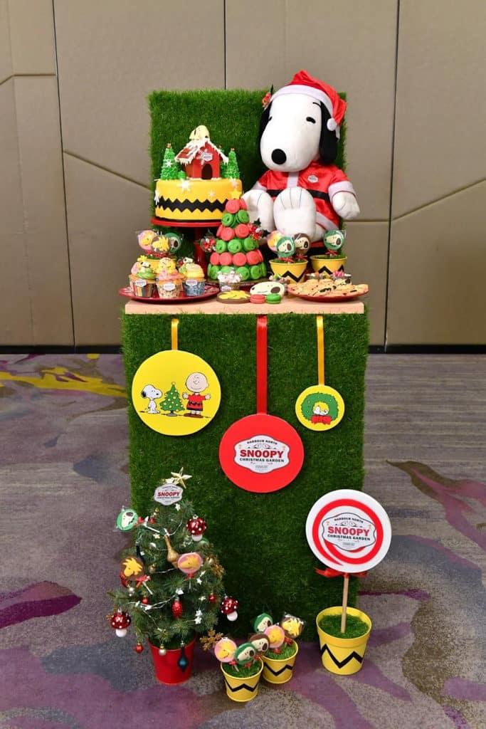 北角匯Harbour North:Snoopy Christmas Garden Snoopy 甜點花園有吃不完的花生漫畫角色造型零食。