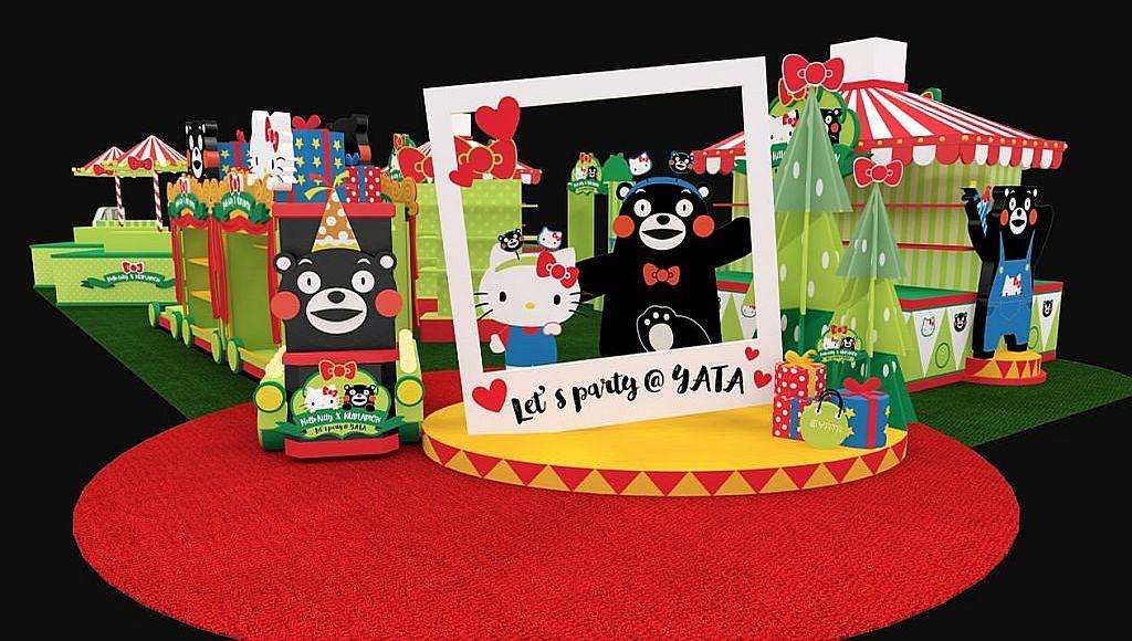 Hello Kitty × KUMAMON Let's Party 展場內特設 2 米高巨型即影即有相框,讓你與 2 大「萌」友來張合照。
