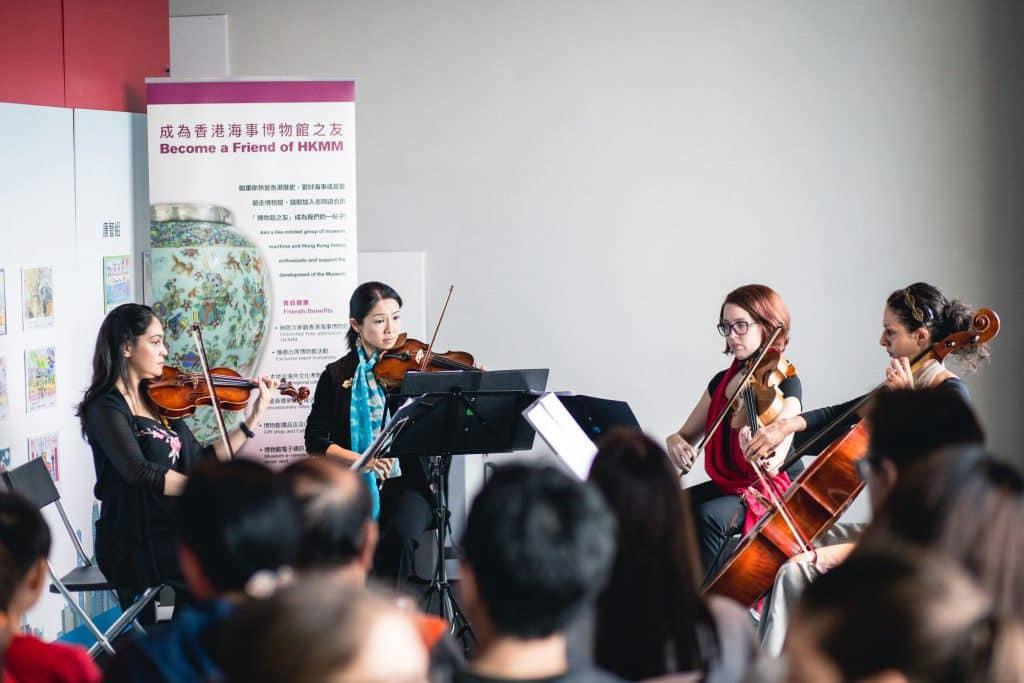 海事博物館:香港海運週「家庭同樂日 2018」 四重奏演出今年載譽歸來。