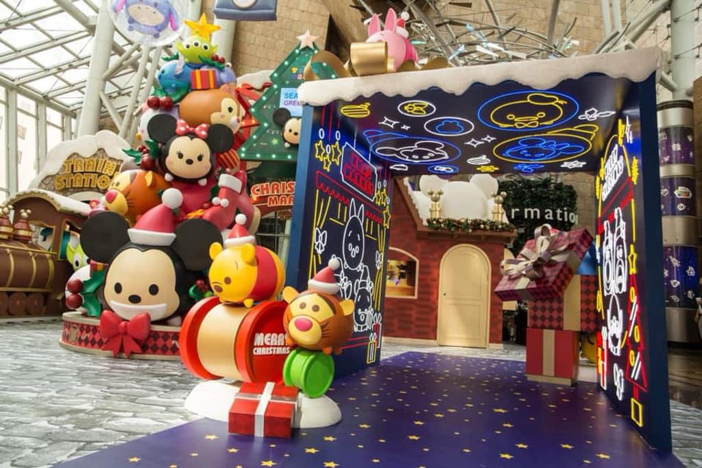 朗豪坊:迪士尼 Tsum Tsum 聖誕市集 5 Tsum Tsum 動畫經典場景重現於朗豪坊。