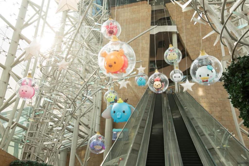 朗豪坊:迪士尼 Tsum Tsum 聖誕市集 12 巨型 Tsum Tsum 燈泡氣球