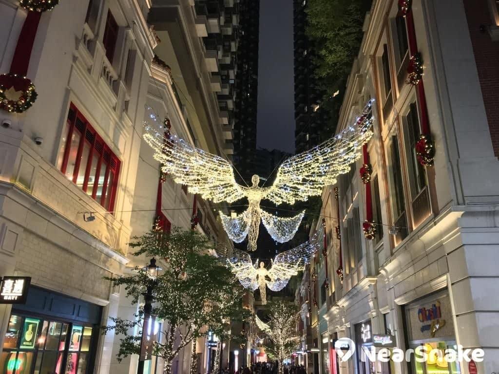灣仔利東街將重現攝政街充滿英倫味道的聖誕燈飾。
