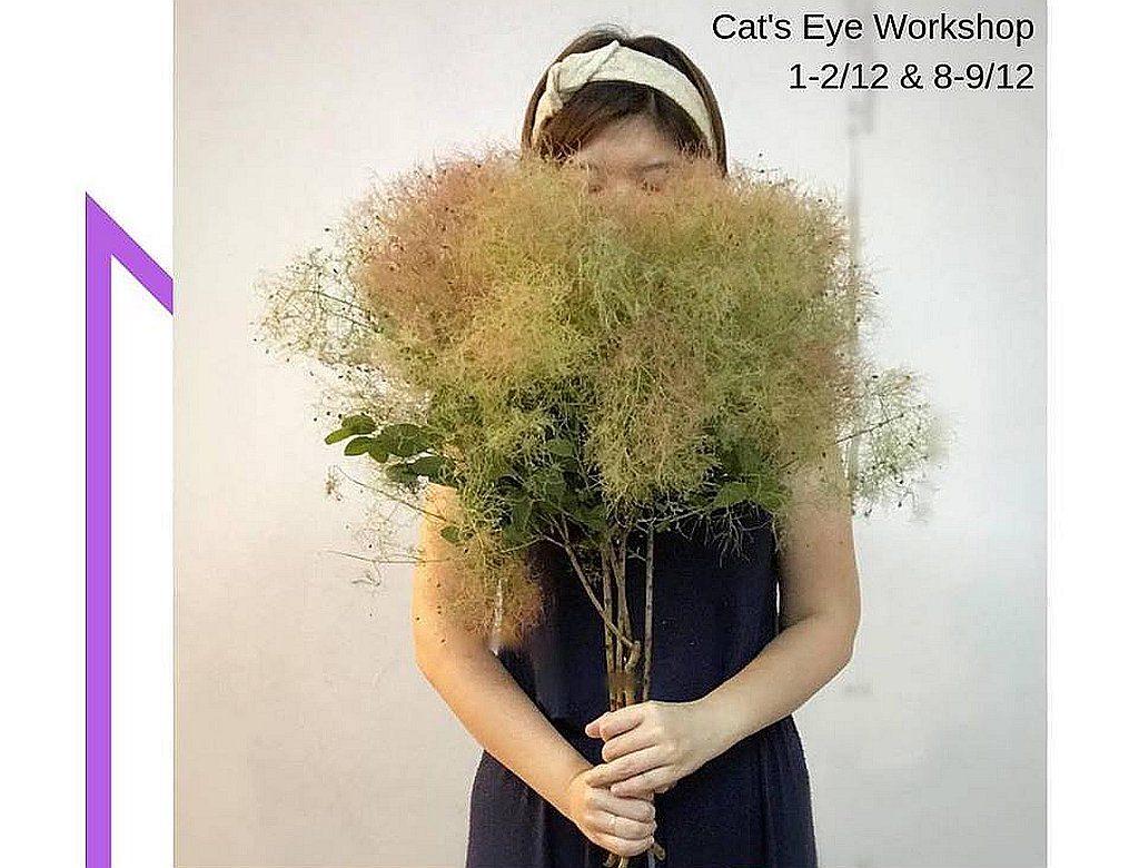 5 Senses Market 品牌介紹:Cat Eyes Workshop—自家製作不同形式的乾花,每件作品都獨一無二,希望為擁有者提供個人的治癒花房。