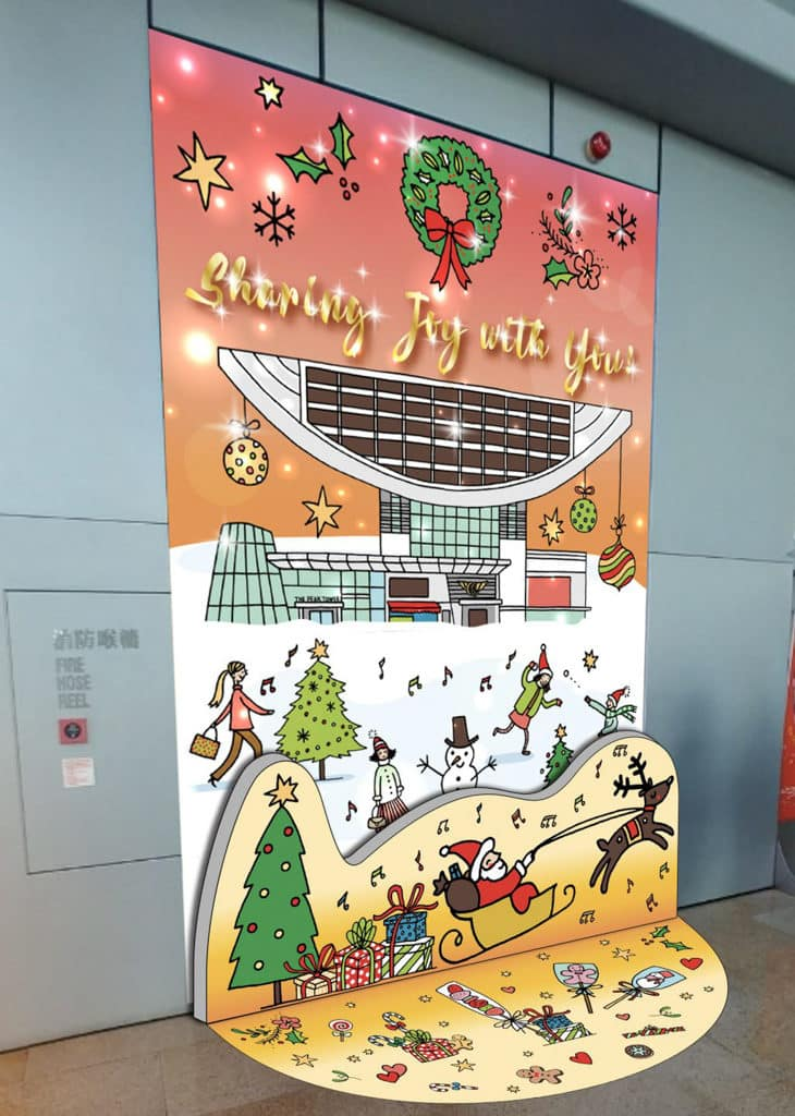 「山頂冬日聖誕」聖誕裝置展覽 Mariko 將其獨特的設計風格融入豐富的山頂元素。